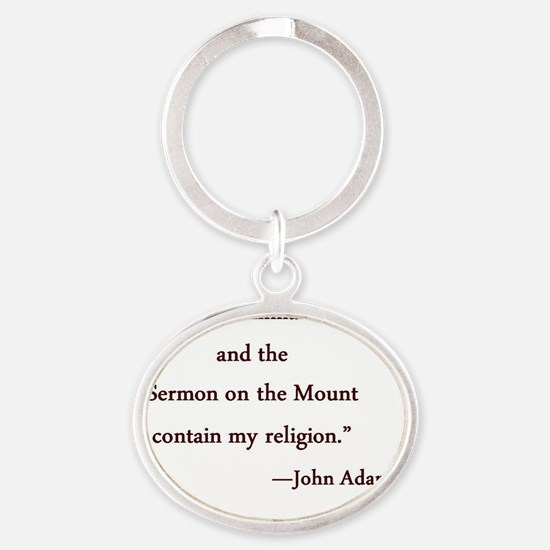 QuoteTeesJA1A Oval Keychain