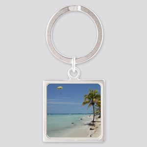 Negril 7 mile beach apr 2011 Square Keychain