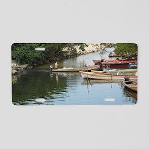 Fishing_Village_Negril_Jama Aluminum License Plate