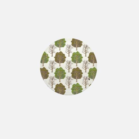 ArgyleTrees01 Mini Button