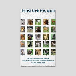 FindthePitBull copy 3'x5' Area Rug