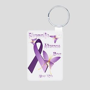 Fibromyalgia Awareness Day Aluminum Photo Keychain