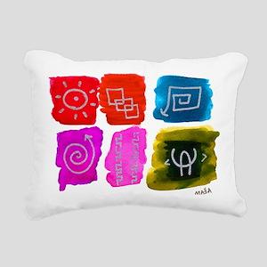Hieroglyph 6 pack Rectangular Canvas Pillow