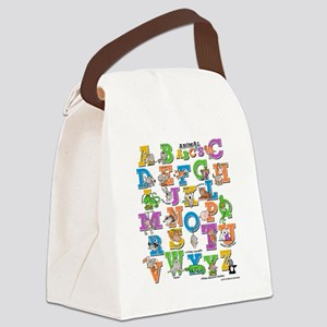 ABCs of Animals RGB Canvas Lunch Bag