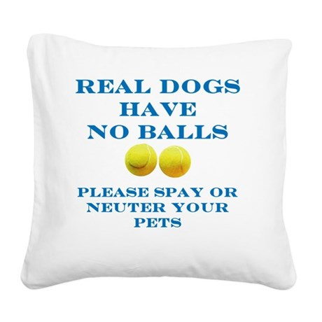 Real Dogs Square Canvas Pillow