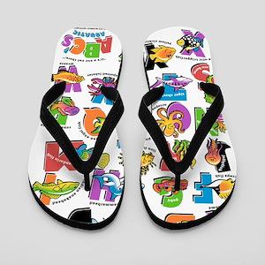 ABC Aquatic RGB Flip Flops