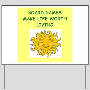 games Yard Sign