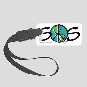 ILU_world_peace_sos Small Luggage Tag