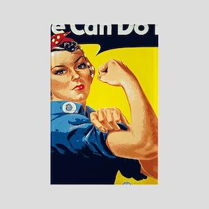 Rosie the Riveter Blanket Rectangle Magnet