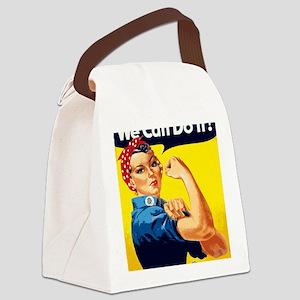 Rosie the Riveter Blanket Canvas Lunch Bag