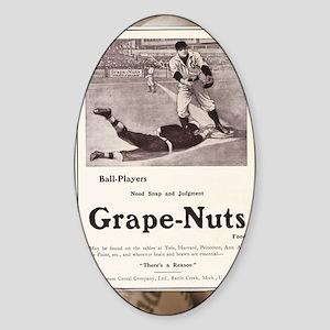 1909 Grape-Nuts Ad Sticker (Oval)