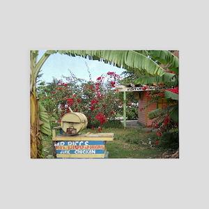 Jerk_Chicken_Stand_Negril_Jamaica_L 5'x7'Area Rug