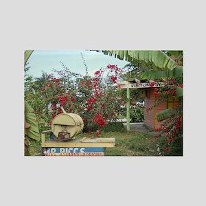 Jerk_Chicken_Stand_Negril_Jamaica Rectangle Magnet