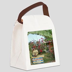 Jerk_Chicken_Stand_Negril_Jamaica Canvas Lunch Bag