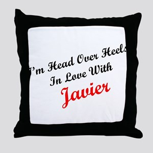 In Love with Javier Throw Pillow
