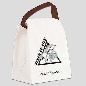 gjj shark shirt front Canvas Lunch Bag