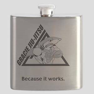 gjj shark shirt front Flask