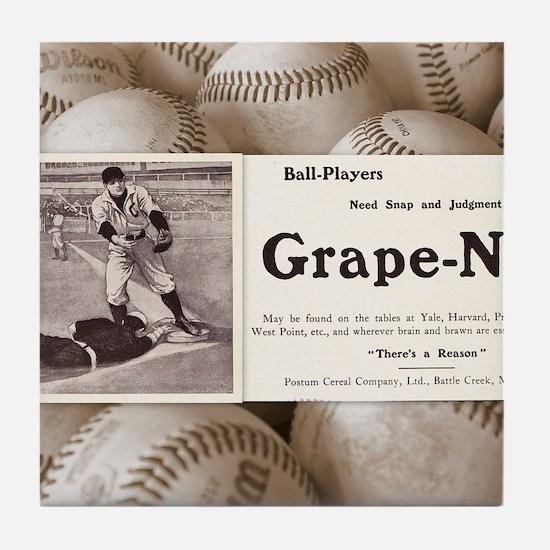 1909 Grape-Nuts Ad Tile Coaster