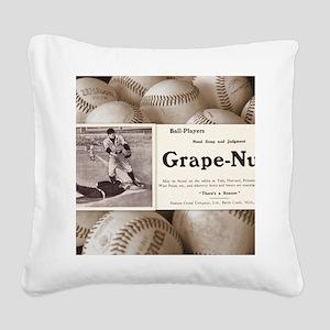 1909 Grape-Nuts Ad Square Canvas Pillow