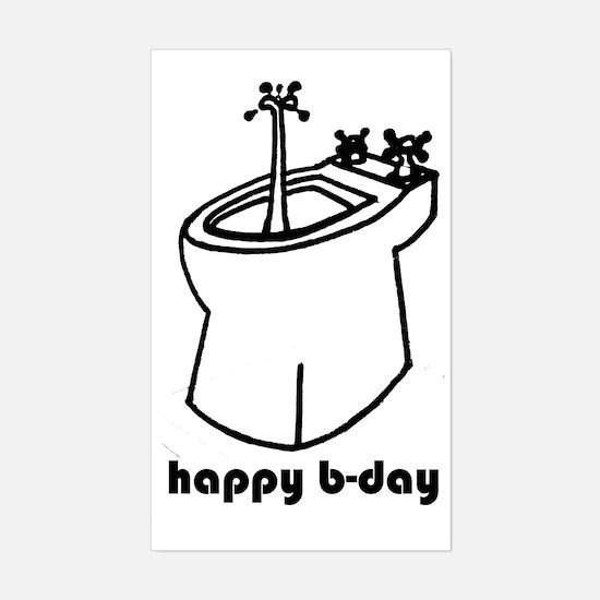 happy b-day Sticker (Rectangle)