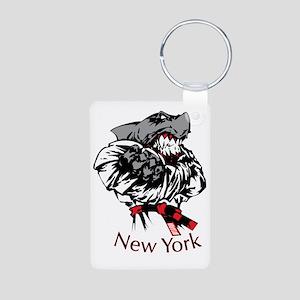 rex new york Aluminum Photo Keychain