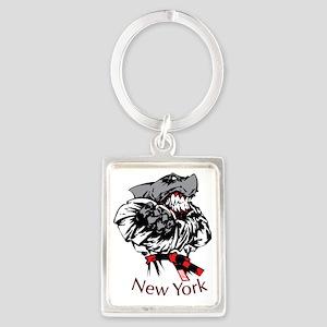 rex new york Portrait Keychain