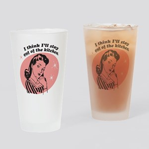 Stay Out Of The Kitchen Drinking Glass