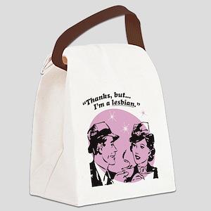 But Im A Lesbian Canvas Lunch Bag