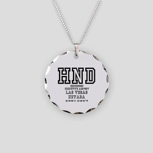 AIRPORT CODES -HND - LAS VEG Necklace Circle Charm