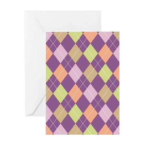 Purple Argyll Greeting Card