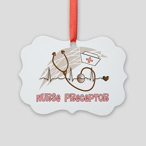 Nurse Preceptor Salmon Brown Picture Ornament