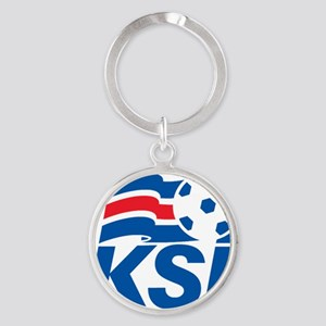 Iceland_FA Round Keychain