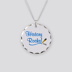 History Rocks Necklace Circle Charm