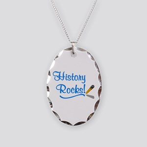History Rocks Necklace Oval Charm