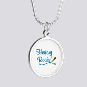 History Rocks Silver Round Necklace