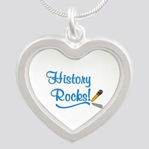 History Rocks Silver Heart Necklace