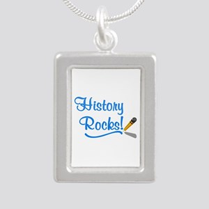 History Rocks Silver Portrait Necklace