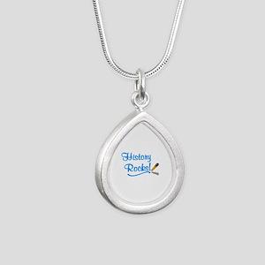 History Rocks Silver Teardrop Necklace