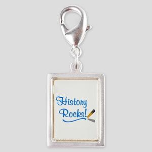 History Rocks Silver Portrait Charm