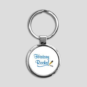 History Rocks Round Keychain
