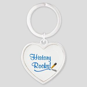 History Rocks Heart Keychain