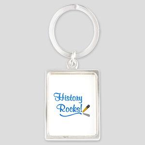History Rocks Portrait Keychain