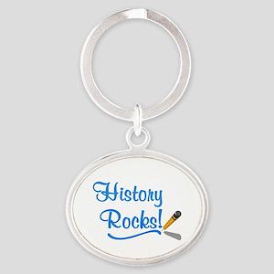 History Rocks Oval Keychain