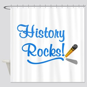 History Rocks Shower Curtain