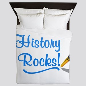 History Rocks Queen Duvet