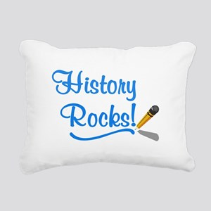 History Rocks Rectangular Canvas Pillow