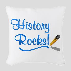 History Rocks Woven Throw Pillow