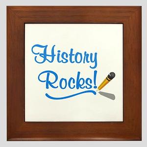 History Rocks Framed Tile