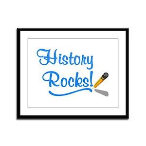 History Rocks Framed Panel Print