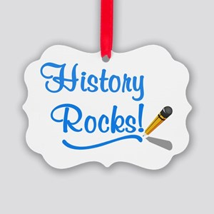History Rocks Picture Ornament